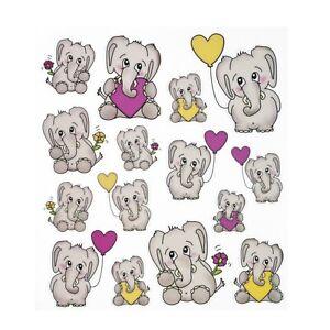 Sticker Aufkleber Elefant Herz Valentinstag Tiere Tiermotive DIY selbstklebend