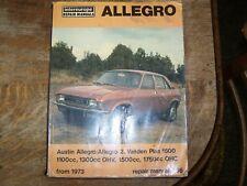 INTEREUROPE ALLEGRO 1973 ONWARDS WORKSHOP MANUAL