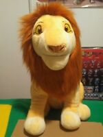 "2011 The Lion King Adult Simba Plush large 18"" Authentic Disney Store stamped"
