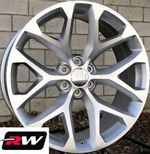 24 inch Chevy Silverado 1500 OE Replica Wheels Snowflake Rims Machined Silver