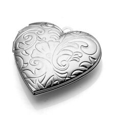 Phoenix Photo Picture Frame Locket Heart Pendant Fit Necklace For Lover's Gift