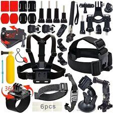 Deportes Cámara Accesorios Kit para GoPro Hero 5 4 3+3 2 1 Correa de Pecho Cabeza Correa
