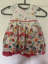 Pretty Floral M&S Baby Dress - 6-9 Months