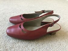 HOTTER ENTREAT LADIES RED LEATHER SHOES UK SIZE 3