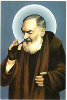 Postcard St Padre Pio Pietrelcina Christian Catholic Saint Prayer Card Print Art