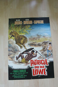 Plakat Motiv 2  PATRICIA UND DER LÖWE  William Holden  Trevor Howard  Capucine