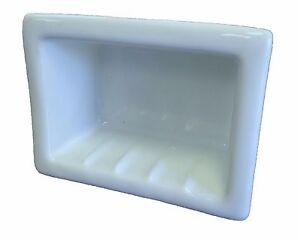 6x4 Light Blue Porcelain Recessed Soap Dish Shower Tile Ceramic Holder H46R 51