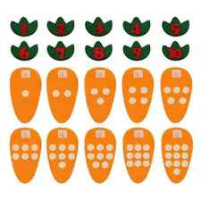 Cloth Carrot Kid Math Number Counting Toy 1-10 Mathematic Preschool Learn Useful
