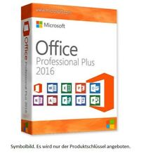 MS Microsoft Office 2016 Professional Plus ✔ +RECHNUNG 19% USt. ✔  Kein ABO ✔ 03