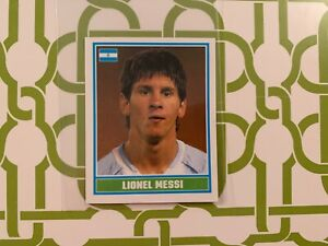 Rare Lionel Messi 2006 Topps Merlin World Cup Rookie Sticker #221