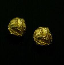 Lapponia. 14k Gold Ear Clips - Björn Weckström 1971.