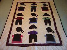 "AMISH LANCASTER , PA ""BOYS & GIRLS CLOTHING"" WALLHANGING QUILT 30""- 41"""