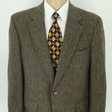42 S Austin Manor Brown Check Tweed Wool 2Btn Mens Jacket Sport Coat Blazer Mint