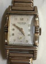 Vintage Hallmark Art Deco Watch Antique Parts/Repair Case Wrist Men's 10K RGP