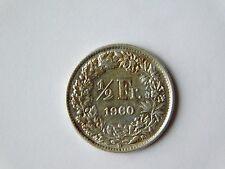 Switzerland  ½ Franc Coin 1960 (22 stars), Silver