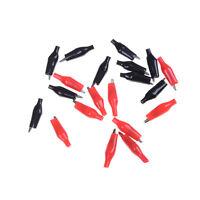 Pop 20x Red Black Soft Plastic Testing Probe Alligator Clips Crocodile Test Clip