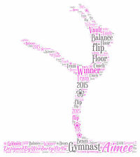 Personalised Gymnast Word Art Print Any Colours