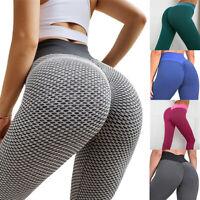 Women Tik Tok Leggings High Waist Butt Lift Stretchy Workout Textured Yoga Pants