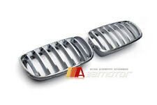 Chrome Front Hood Kidney Grille Grilles 2PC for 2007-2014 BMW X5 E70 X6 E71 E72
