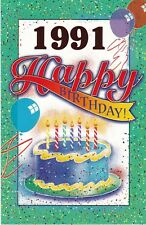 Birthday Card with Envelope 1991 Year of Birth
