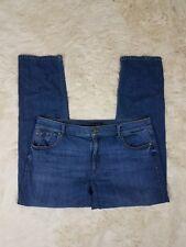 Ann Taylor The Girlfriend Jeans Women's Size 12 Dark Wash Low Rise Stretch E