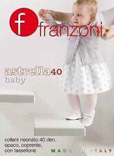 4 QUATTRO COLLANT FRANZONI BABY 40 DEN COLORE SETA TG. 6-9 MESI ASTRELLA