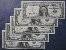 Lot of 5:  1957 Silver Certificate Dollar $1 STAR Notes -- VF or Better