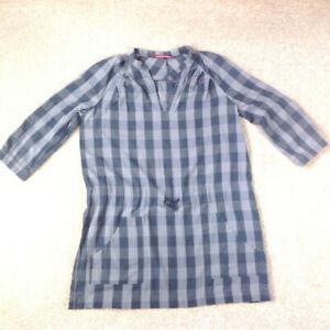 Comptoir Des Cotonniers Grey Check Dress / Tunic Size UK 16 (44) Knee Length