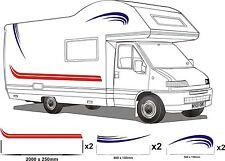 MOTORHOME VINYL GRAPHICS STICKERS DECALS SET CAMPER VAN RV CARAVAN ANY COLR set9