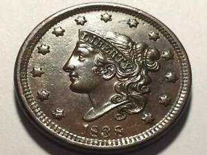 1838 Coronet Head Large Cent Nice Brown Uncirculated