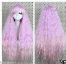Cosplay Long Lavender Purple Wavy Women's wig