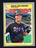 Doug DeCinces #299 signed autograph auto 1985 Fleer Baseball Trading Card