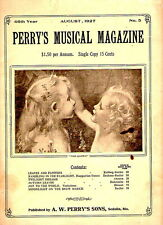 Perry's Musical Magazine AUG 1927 Two Girls cover