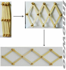 New Expandable Wooden Rack Accordion Style Hat Coat Jewelry Hanging 10 Pegs