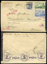 SPAIN CANARY ISLANDS 1941 AIRMAIL CENSORED to GERMANY