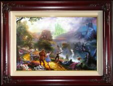 Thomas Kinkade Wizard of OZ Dorothy Discovers the Emerald City 18x27 P/P Canvas