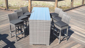 NEW Casablanca 5 Pce Bar Set Outdoor $900 - $1499