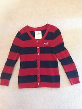 Boys Designer Hollister Wooly Cardigan Size L Excellent Condition Bargain