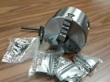 """4"""" 3-JAW SELF-CENTERING LATHE CHUCKS with extra jaws, part# 0403F0 - NEW"""