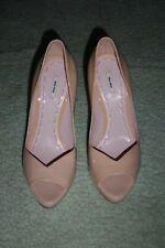 Miu Miu Peep Toe Platform Shoes in Blush