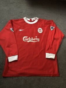 Liverpool Shirt 1998-2000 Reebok Ince 17 Carlsberg Great Condition With Patches