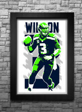 RUSSELL WILSON art print/poster SEATTLE SEAHAWKS FREE S&H