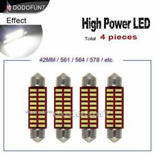 4pc Festoon 41mm 42mm 18SMD White 4014 Chip LED Light Interior Map OR Dome Bulb
