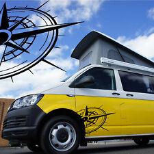 Rose des vents Sticker Boussole point cardinaux Compass van camion camping car