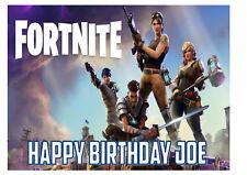 Fortnite Rice Paper Birthday Cake Topper! D1