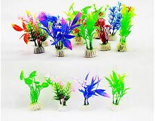 Lote 10 Plantas Artificiales para Acuario de Peces Multicolor Altura 10cm 4415