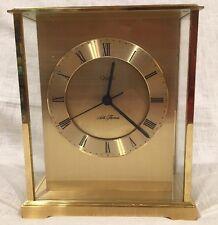 Seth Thomas Brass Desk Mantle Clock 0162-004 Quartz, Germany