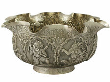Antique Burmese Silver Bowl, Circa 1880