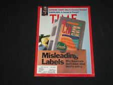 1991 JULY 15 TIME MAGAZINE- MISLEADING LABELS, WHAT ARE AMERICANS EATING- T 2704