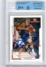 Dirk Nowitzki Signed 2000-01 UD MVP Card JSA COA BGS Slabbed Autograph Mavericks